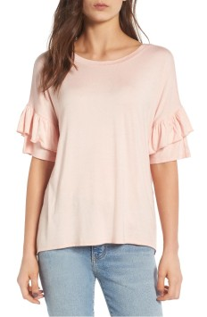 Ruffle Sleeve Top in Blush by Chelsea 28
