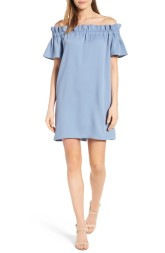 Off the Shoulder Dress by Pleione